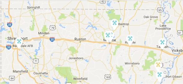 Cross Keys Bank Locations Shreveport Monroe Bossier Sterlington West M - Map of us bank locations